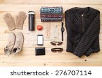 outfit of traveler  student ... | Shutterstock . vector #276707114