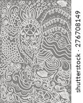 hand drawn lace doodles retro... | Shutterstock .eps vector #276708149