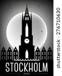 stockholm city vintage poster... | Shutterstock .eps vector #276710630