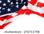 american flag close up | Shutterstock . vector #276711758