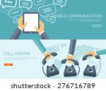 communication chatting.flat... | Shutterstock .eps vector #276716789