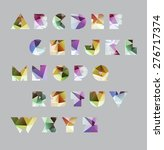 abstract polygonal letter in... | Shutterstock .eps vector #276717374