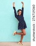 happy summer african black... | Shutterstock . vector #276719360
