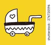 baby stroller doodle drawing | Shutterstock .eps vector #276720596
