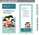 4x9 two sided rack card ... | Shutterstock .eps vector #27672073