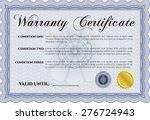 warranty certificate. with... | Shutterstock .eps vector #276724943