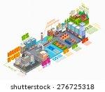 flat 3d isometric industrial... | Shutterstock .eps vector #276725318