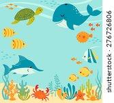 cute underwater design with... | Shutterstock .eps vector #276726806
