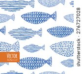 light watercolor indigo blue... | Shutterstock .eps vector #276727028