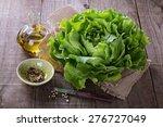 single butter lettuce head  oil ... | Shutterstock . vector #276727049