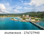 cruise port in the tropical... | Shutterstock . vector #276727940