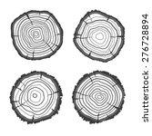 vector illustration tree rings... | Shutterstock .eps vector #276728894