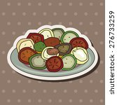 italian food   cartoon sticker... | Shutterstock . vector #276733259
