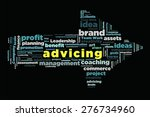 advicing word on cloud concept... | Shutterstock . vector #276734960