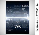 Vector Set Of Tri Fold Brochur...