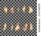 set 10  transparent fire flames | Shutterstock .eps vector #276746033