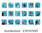 collection of water sports | Shutterstock .eps vector #276747050