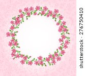 pink vintage card with floral... | Shutterstock .eps vector #276750410