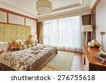 luxury bed room interior and... | Shutterstock . vector #276755618