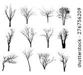 vector black silhouette of a... | Shutterstock .eps vector #276756209