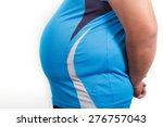 fat man with a big belly. diet | Shutterstock . vector #276757043