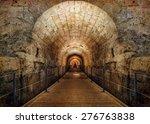 templars tunnel  12th century   ... | Shutterstock . vector #276763838