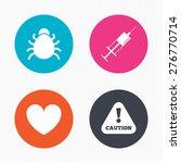 Circle Buttons. Bug And Vaccin...