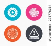 circle buttons. wood and saw... | Shutterstock .eps vector #276776384