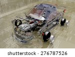 disassembled car on the... | Shutterstock . vector #276787526