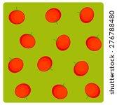 vector flat vegetables on green ... | Shutterstock .eps vector #276788480