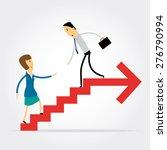 business man helping business... | Shutterstock .eps vector #276790994