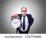 businessman with clock isolated ... | Shutterstock . vector #276793880