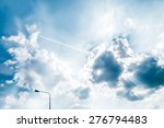 the sky and flying plane | Shutterstock . vector #276794483