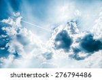 the sky and flying plane | Shutterstock . vector #276794486