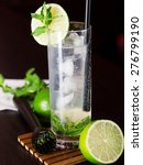 mojito cocktail shot on a bar... | Shutterstock . vector #276799190