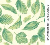 seamless pattern with leaves.... | Shutterstock . vector #276800579