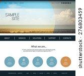 website design template for... | Shutterstock .eps vector #276803459