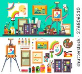 art studio interior with all... | Shutterstock .eps vector #276806210