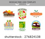 mexican food logo. vector logo... | Shutterstock .eps vector #276824138