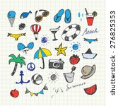 summer holiday doodles set | Shutterstock .eps vector #276825353