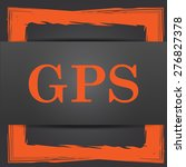 gps icon. internet button on... | Shutterstock . vector #276827378