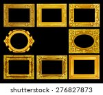 the antique gold frame on the... | Shutterstock . vector #276827873