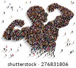 large group of people seen from ... | Shutterstock . vector #276831806