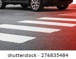 Pedestrian Crossing Road...