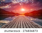beautiful sunset view from a... | Shutterstock . vector #276836873