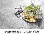 tea glasses and pot  arabian...   Shutterstock . vector #276845426