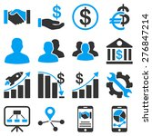 business charts and bank icons. ... | Shutterstock . vector #276847214