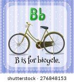 flashcard alphabet b is for... | Shutterstock .eps vector #276848153