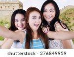 portrait of cheerful teenage... | Shutterstock . vector #276849959