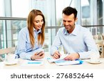 two managers in a business... | Shutterstock . vector #276852644